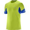 Salomon Agile Hardloopshirt korte mouwen Heren groen/blauw